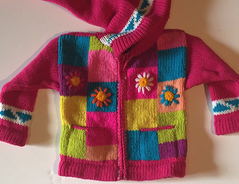 Children Flowers & Square Sweater Lined