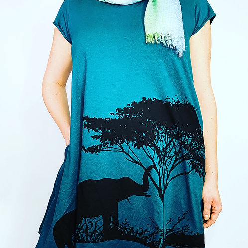 Elephant -organic cotton dress