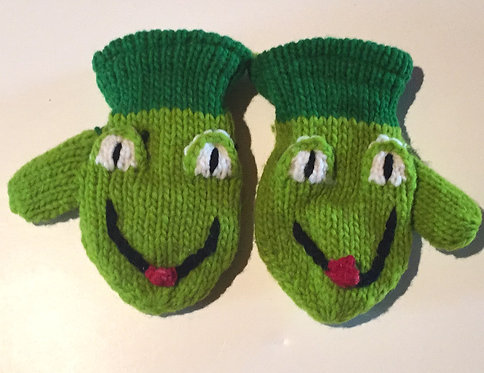 Children mitts medium Frog