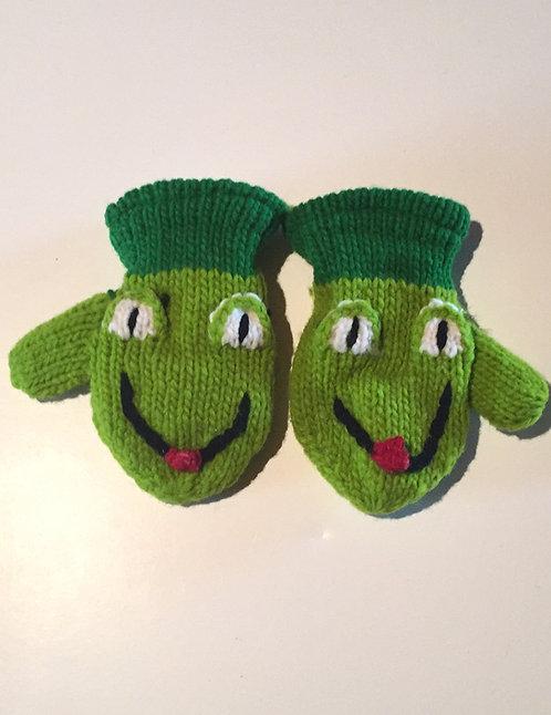 Children mitts medium Frog