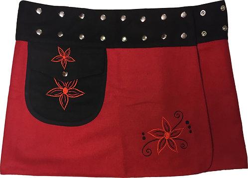 Felt skirt-red