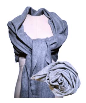 Cashmere Shawl- Dark Grey