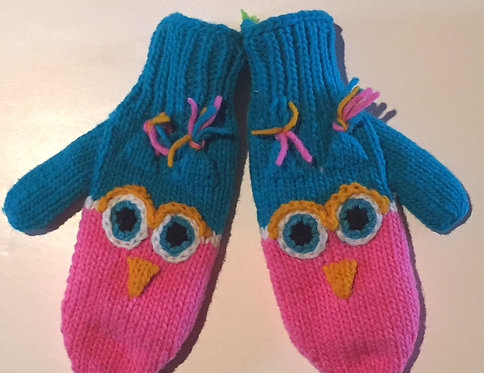 Adult animal mitt/Owl