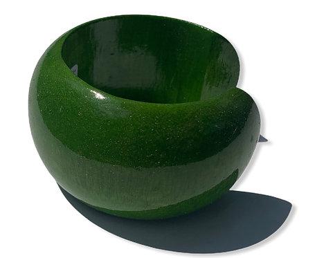 Mango wood bracelet lrg green