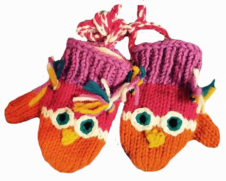 Children mitts small Owl