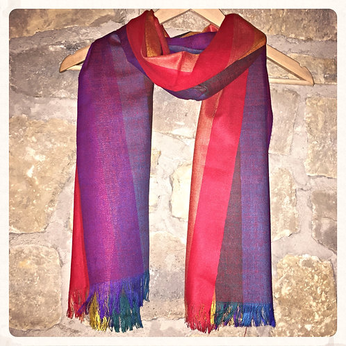 Cotton Scarf Rainbow