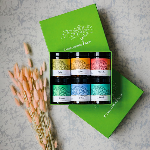 Bazsalikomos kert tea selection in a unique gift box