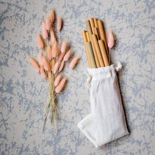 Bambusz szívószál (12 db)