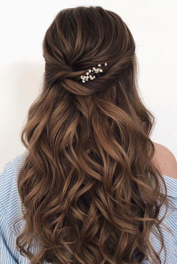 classic half up half down bridal hairstyle