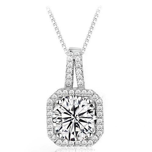 Grace 925 Sterling Silver Cubic Zirconia Bridal Necklace
