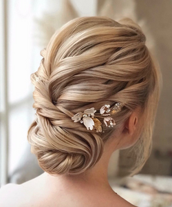 braided hair style for medium hair low bun