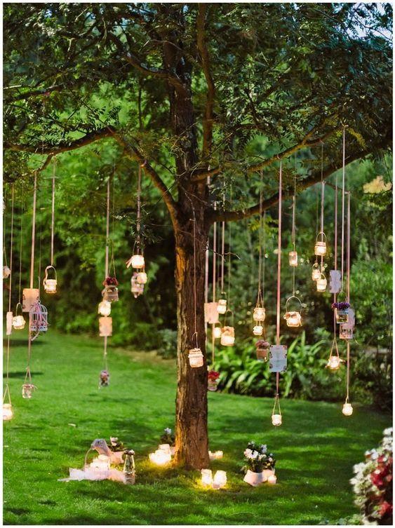 Small intimate back garden wedding decor ideas