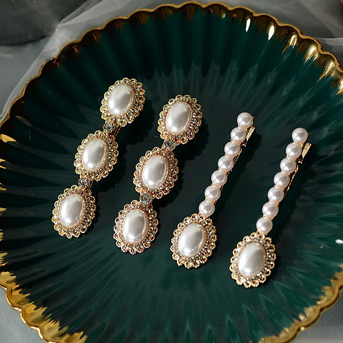 Anika Pearls & Crystal Wedding Hair pins
