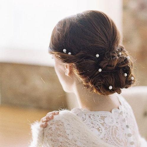 Lana Bridal White Pearl Hair Pins (Set of 20)