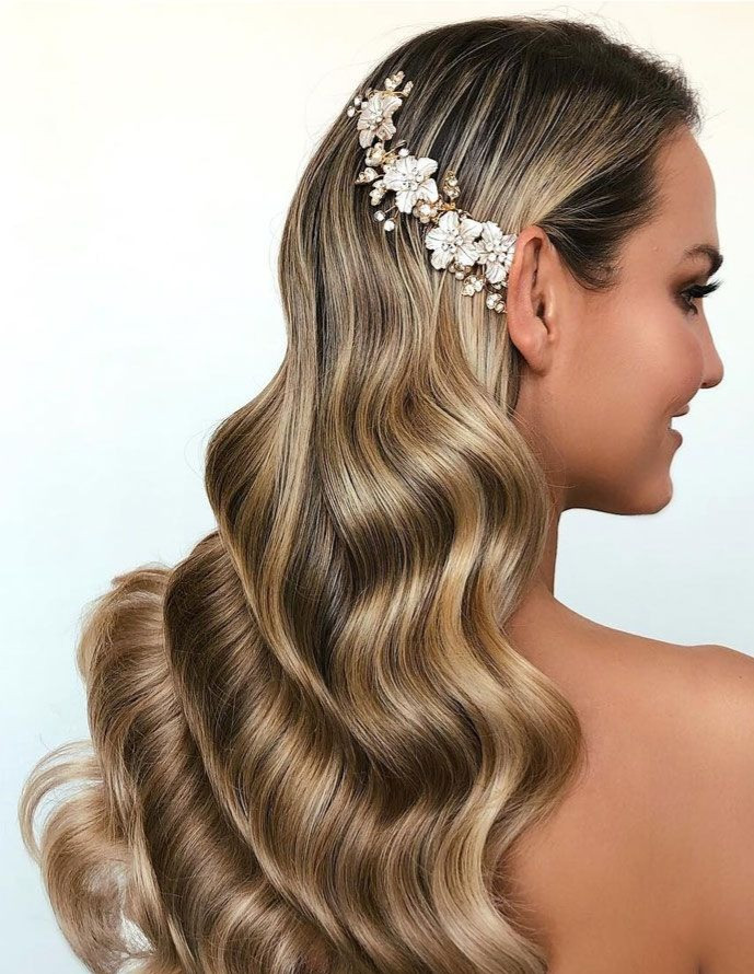 vintage wave hollywood curls hairstyle brides weddings party special occasion