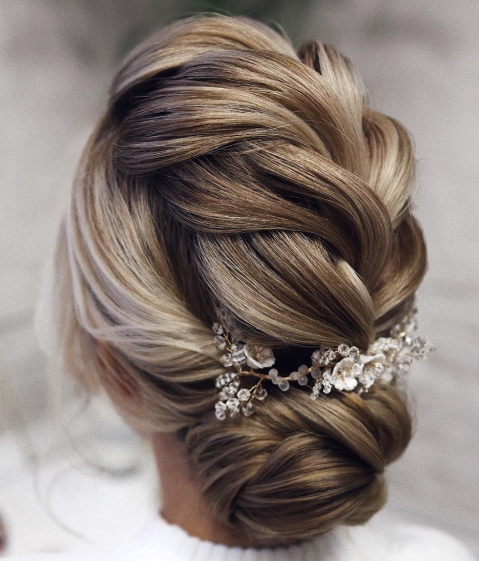 most popular wedding hairstyle updo braid french