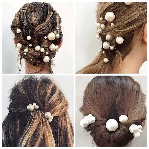 Priya Pearl Gold Wedding Hair Pins  (Set of 18)