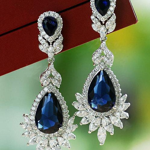 Elena Bridal Cubic Zirconia Dangle Earrings