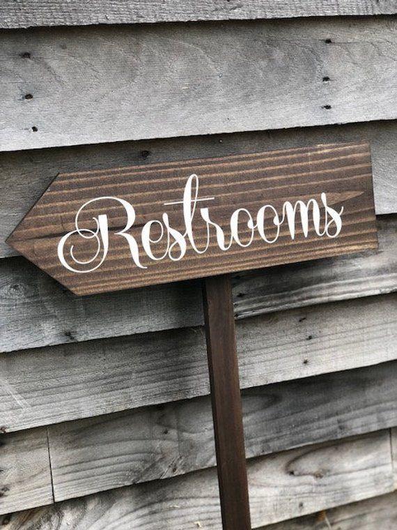 Wedding Decor Ideas Restroom Sign