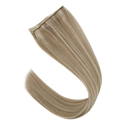 "18"" One Piece Clip In 100% Real Human Hair Extensions"