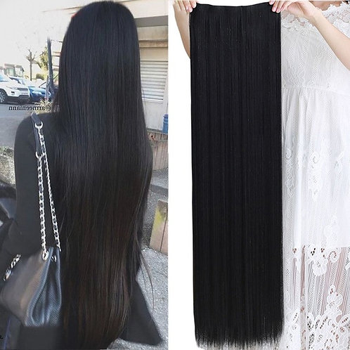 One piece Straight Clip In Synthetic Hair Extensions