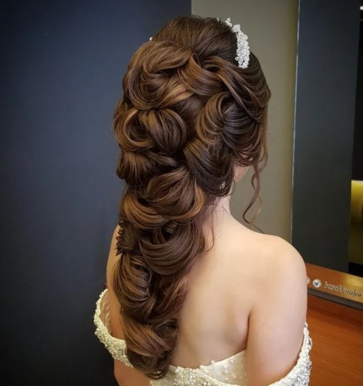 perfect for asian wedding hairstyle messy plait braid twists textured hairdo