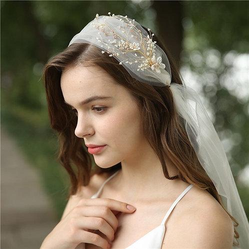Harper Beaded Bridal Headpiece Veil