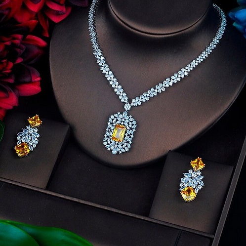 Sabrina Cubic Zirconia Bridal Jewelry Set