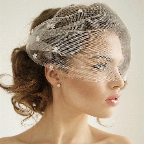 Reena Romantic Bird Cage Bridal Veil
