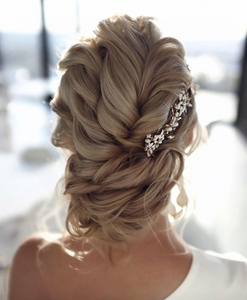 braided updo modern bohemian hairstyle brides weddings party