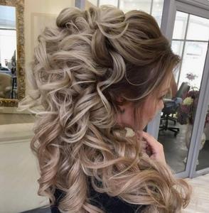 Hair style for long and medium hair length curls