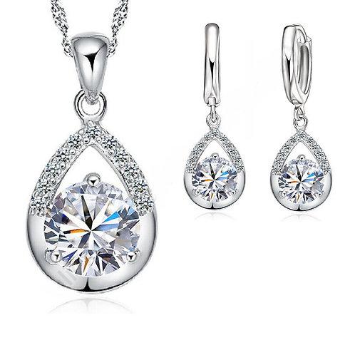Charlotte 925 Sterling Silver CZ Bridal Jewellery Set
