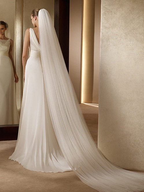 Tia 2 Tier Long Bridal Veil