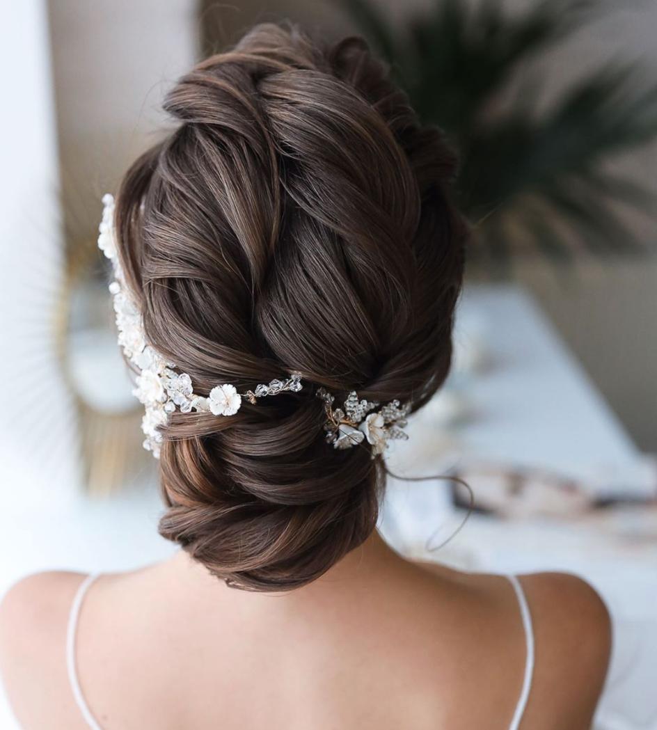 best bridal updo modern texture braids