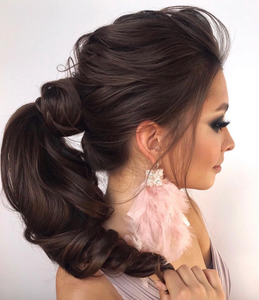 Hair style for long hair ponytail chic
