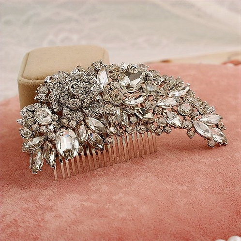Lizzie Bridal Crystal Hair Comb