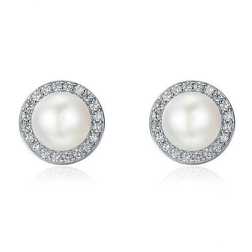 Hannah 925 Sterling Silver & Freshwater Pearl Bridal Earrings