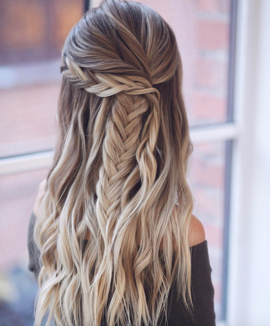 hair style for long hair simple braid plait