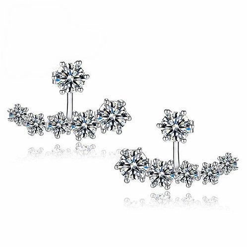 Alicia 925 Sterling Silver Cubic Zirconia Bridal Earrings