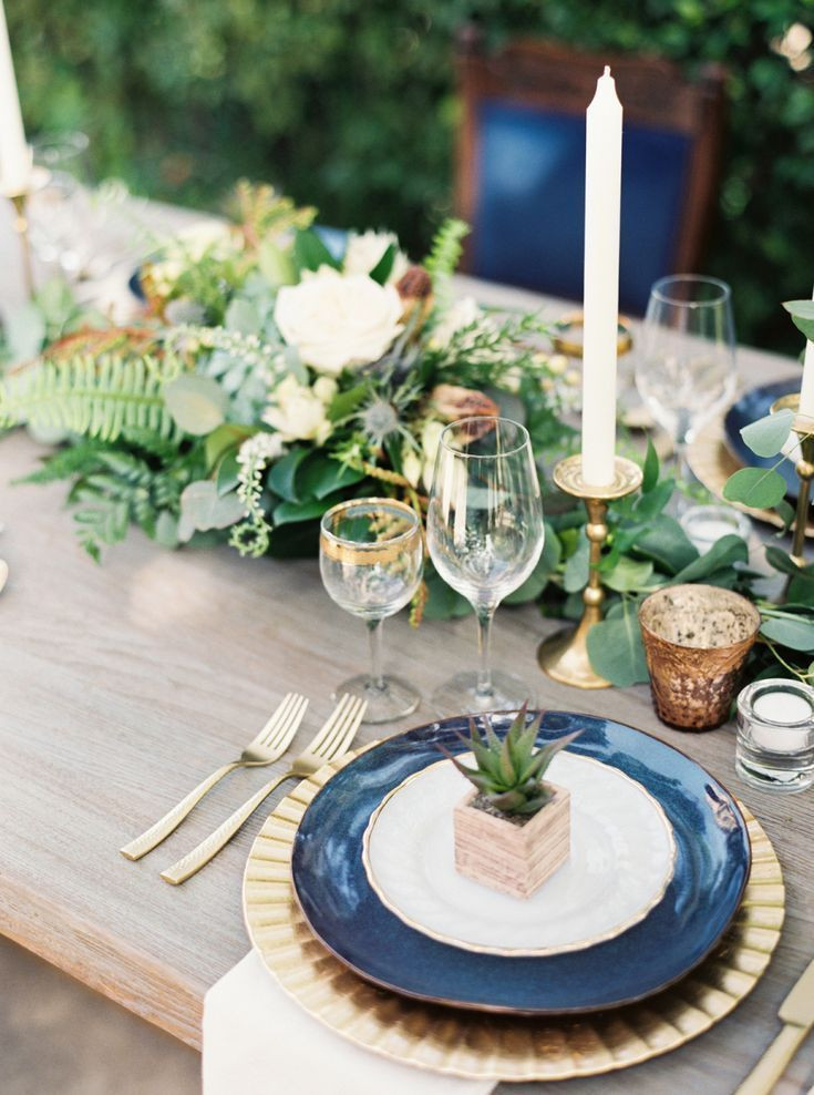 Romantic wedding garden wedding table place setting