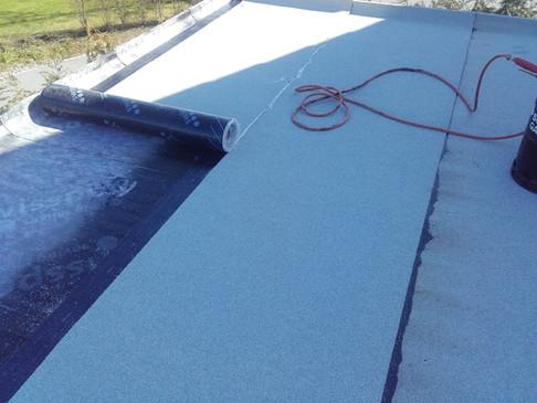 Isolation auf Flachdach
