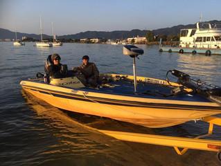 一日秋晴れ 釣り日和
