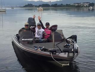 いつもの3名様、琵琶湖集合!