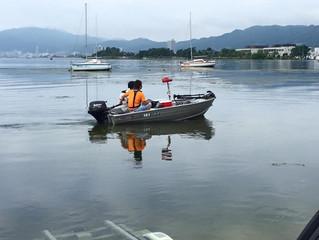 釣りには理想的な薄曇り