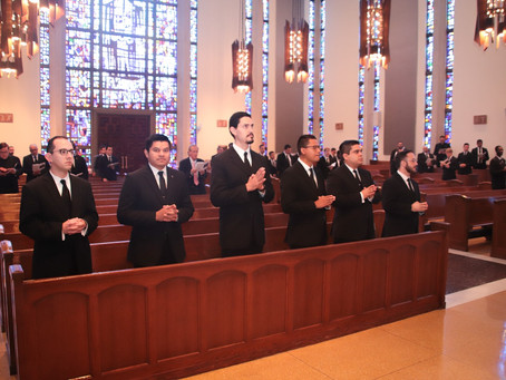 Seminarian Juan Contreras received as a Candidate for Holy Orders