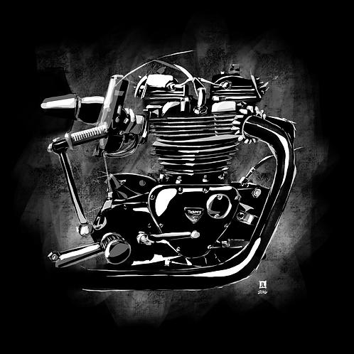 "12"" x 12"" Triumph Motor Print"