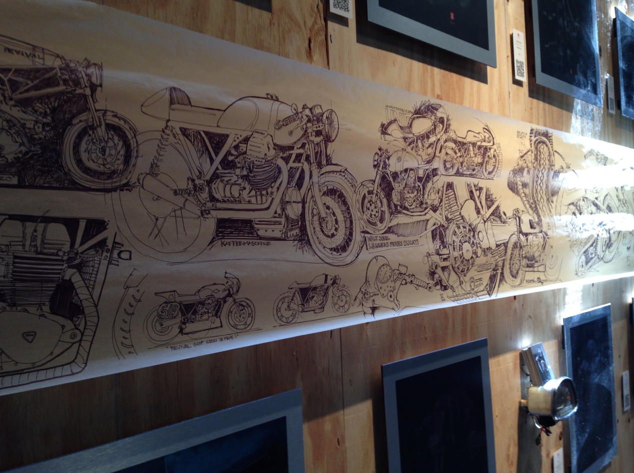 Handbuilt Motorcycle Show Sketches