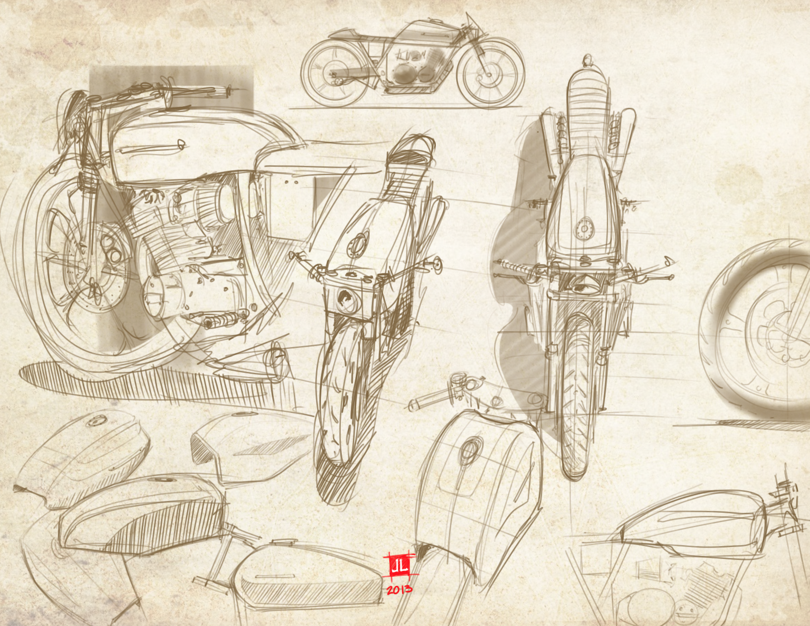 Cafe Racer Doodles