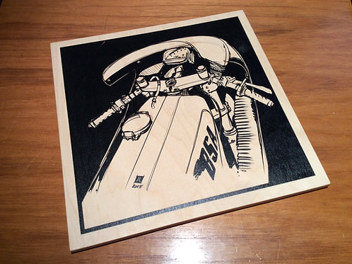"12"" x 12"" BSA Rocket 3 - Wood Print"