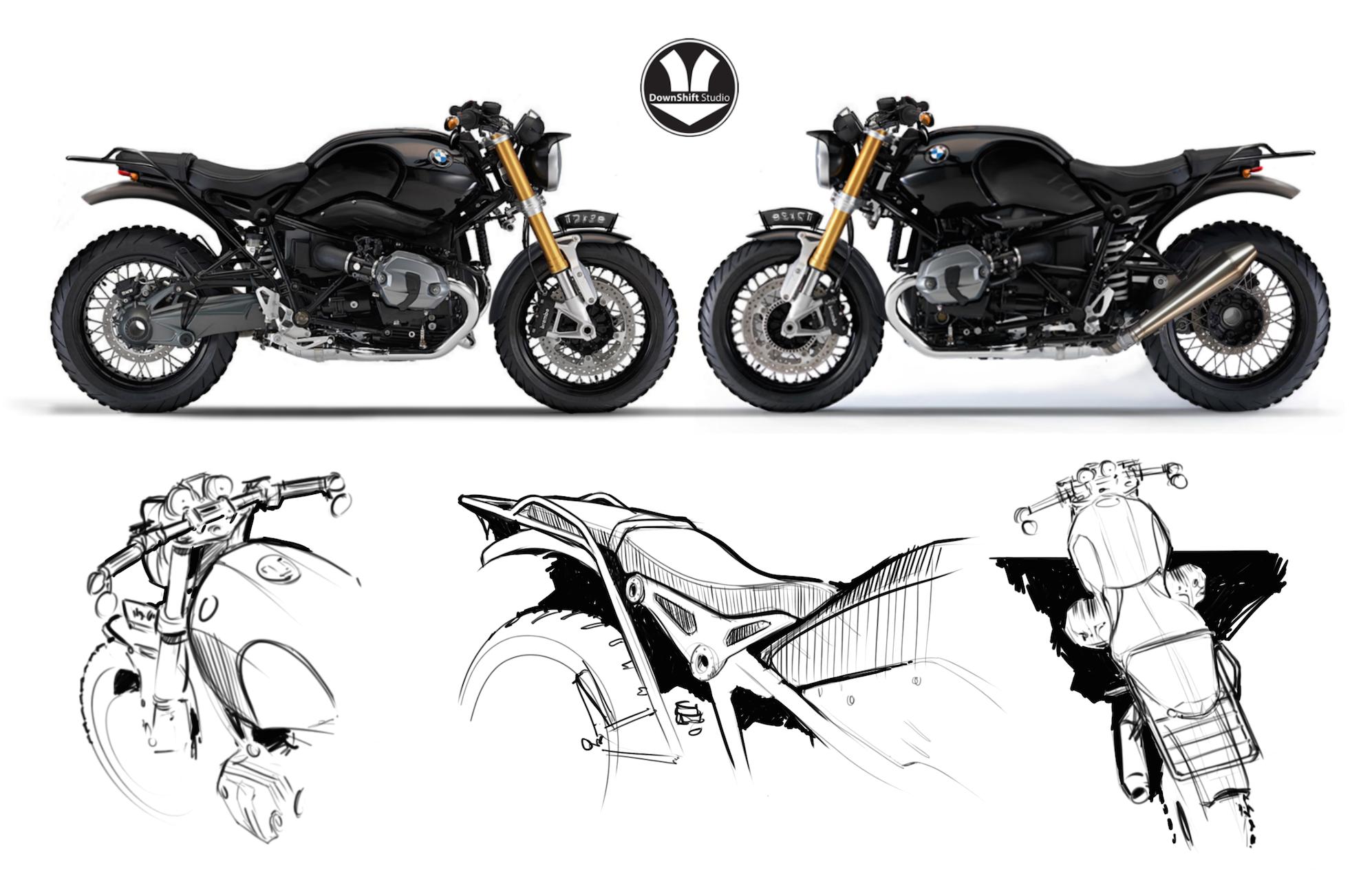 Clint LeaTrea - BMW R9T Concept Sket
